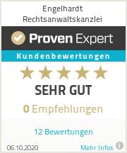 ProvenExpert Bewertungssiegel Engelhardt